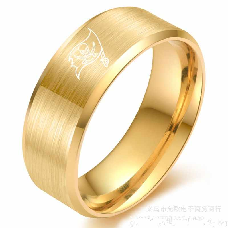 dca17b267 ... Classic Sport ring Tampa Bay Buccaneers Logo Titanium Steel Anniversary  Men's Rings Dropshipping Jewelry