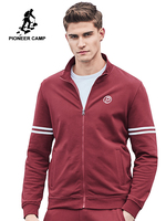 Pioneer Camp new Spring jacket men fashion brand clothing wine red zipper coat men top quality casual male outerwear AJK702045
