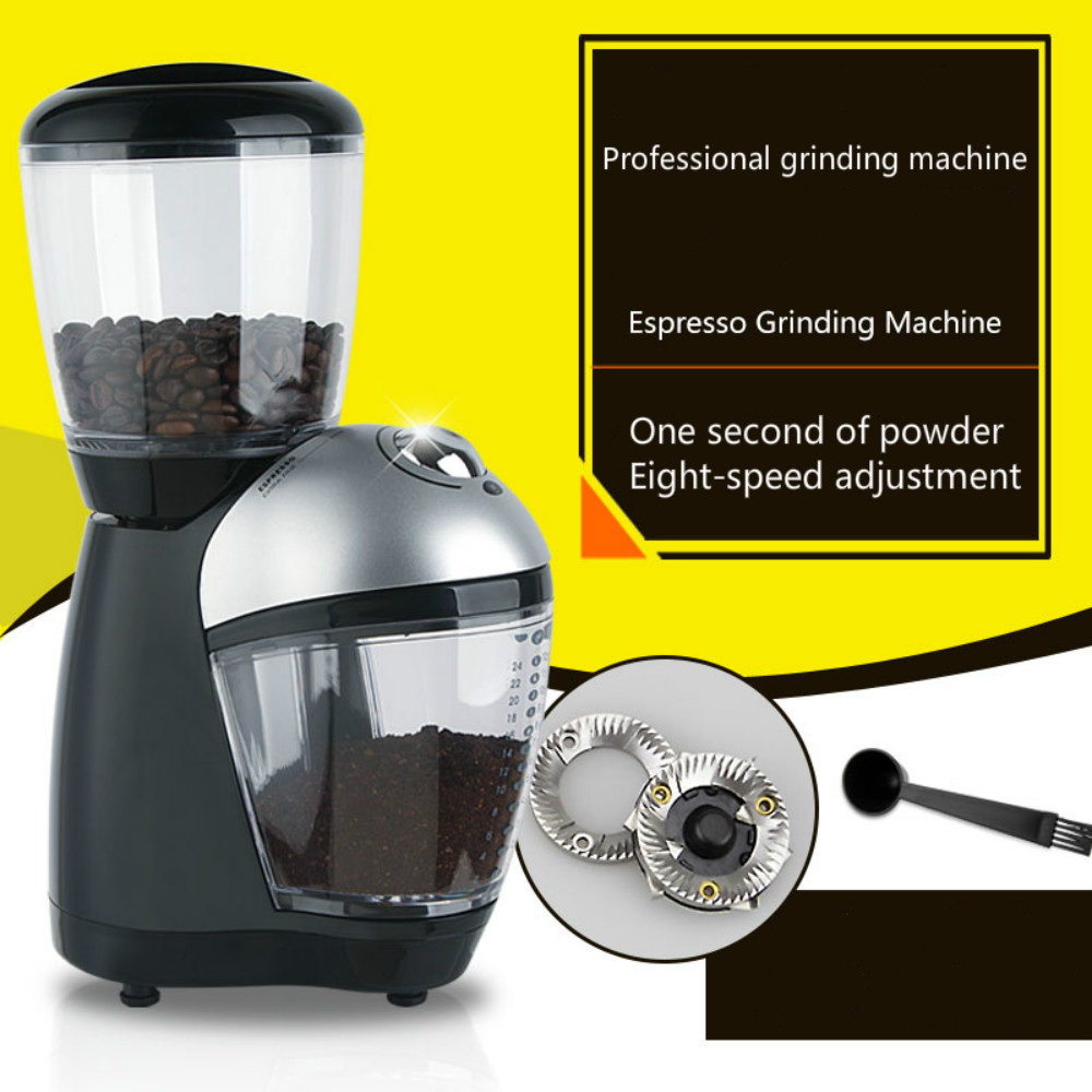 110/220V electric grinder Italian Household coffee grinder Coffee bean mill Eight gear Adjustable thickness110/220V electric grinder Italian Household coffee grinder Coffee bean mill Eight gear Adjustable thickness