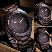 New Fashion Luminous Men S Wooden Watch Men Work Of Art Handmade Natural Wood Wrist Watch