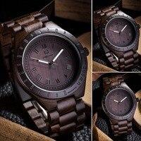Nieuwe Mode Lichtgevende mannen houten horloge mannen kunstwerk handgemaakte natuurlijke hout polshorloge quartz horloges Mannelijk Tafel Relojes