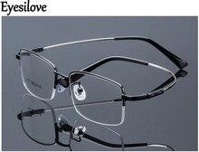 Eyesilove Retail 1pcs half-rim glasses frames metal myopia eyeglasses for men women prescription glasses