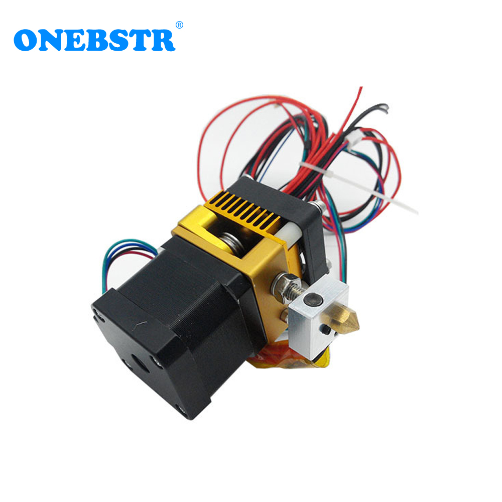 jetting 3d printer latest mk8 extruder makerbot prusa i3 printhead full metal extrusion head single exturder hot sale 3D Printer Parts MK8 Extruder Makerbot Prusa i3 Printhead Full Metal Extrusion Head Nozzle 1.75/0.4mm Free shipping