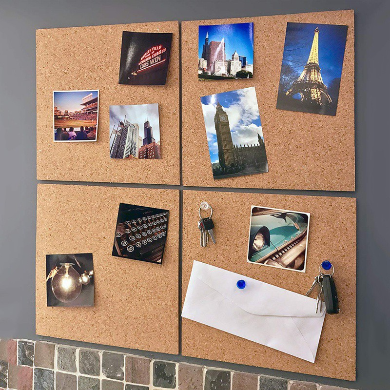 Corcho Pared Message Wood Tablica Korkowa Frame Bulletin Cork Board Home Hexagonal Square Circle Photo Wall Home Decoration