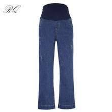 RQ Maternity Pants Stretch Maternity Clothes for Pregnant Women Pregnancy Clothing Pregnant Trousers & Leggings Jeans KZ1