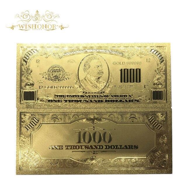 24K Gold Banknote USD Gold Banknote Home Decor, Gold Foil Bill USD ...