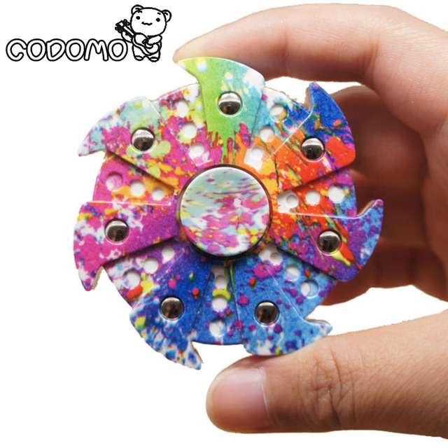 New Creative EDC Powerful Fidget Spinner Hand Finger Camouflage Plastic