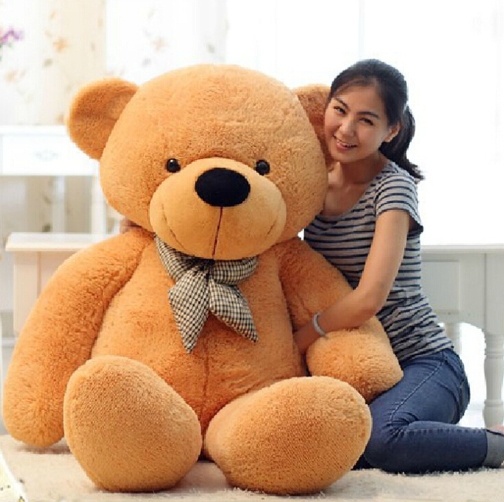 [80-120cm 3 Colors] Giant Large Size Teddy Bear Plush Toys Stuffed Toy Lowest Price Birthday gifts Christmas 1pcs large size 120cm teddy bear plush toys bear 4 colors high quality kisd toys bear doll lovers christmas gifts birthday gift