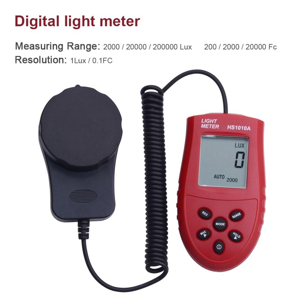 Hot Sale 200,000 Digital Light Meter Luxmeter Lux/FC Meters Luminometer Photometer light meter 3 Range Lux NI5L