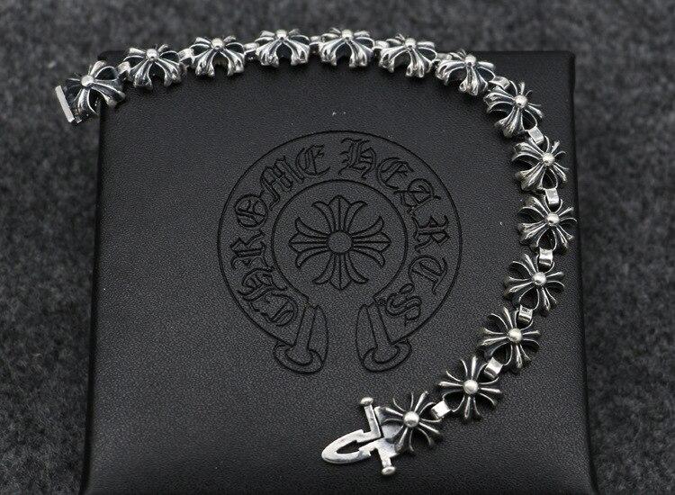 S925 браслет из стерлингового серебра модные популярные аксессуары новый крест вокруг панк стиль 2019 горячая распродажа - 2