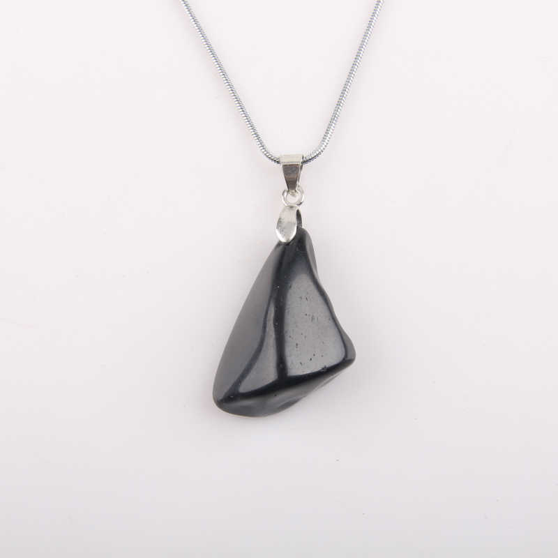 Natural obsidian pendant health lucky irregular shape Stone crystal pendant small jewelry pendants