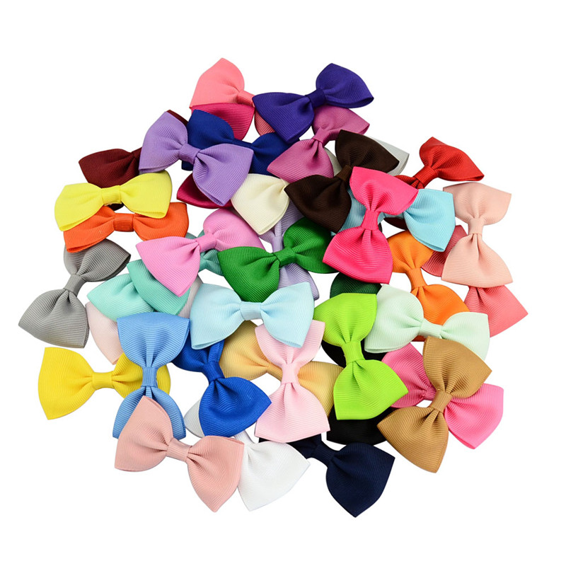 10pcs Ribbon Bow Tie Hair Clips Kids Girls Cute Small Barrettes Hairpins For Children Hairgrips Hair Accessories