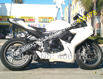 All White GSXR600 GSXR750 For GSX-R 600 750 2011 2012 2013 2014 2016 Bodywork Fairing Kit (Injection molding)
