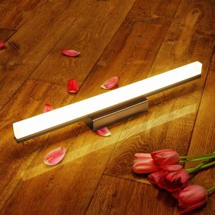 ФОТО 39cm Modern Bathroom LED Mirror Light Acrylic Simple Wall Lamp Fixtures For Home Lighting Indoor Bedside Lights lampada de led