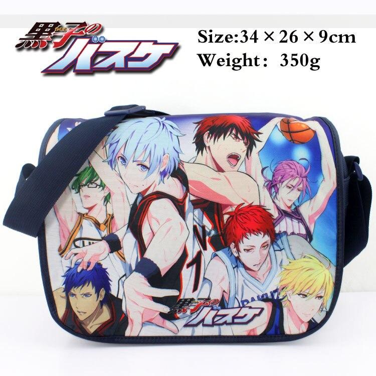 Colorful Sunspot basketball polyester shoulder bag/messenger bag printed with Kuroko Tetsuya/Kagami Taiga