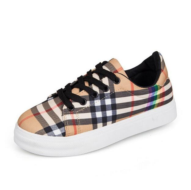 High class women's shoes Italian design rainbow canvas shoes classic personality stripes outdoor leisure shoes