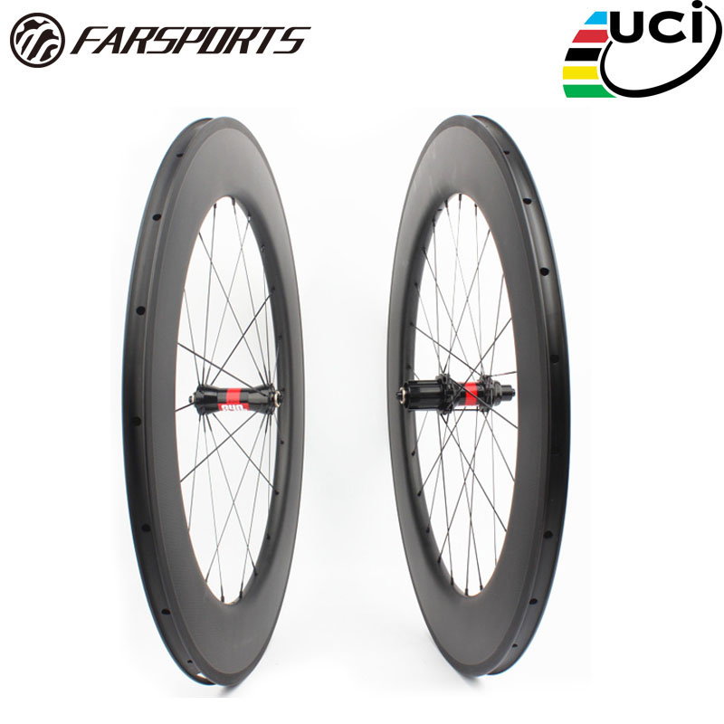 Farsports FSC88 CM 25 DT240 high profile 88 bike wheel with DT hub  25mm wide road clincher bicycle wheelset 88mm|bicycle wheelset|road clincher|bike wheel - title=