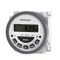 2pcs Digital LCD Display Timer Time Relay Switch CN304E 1 TM619 12V 24V 110V 220V For