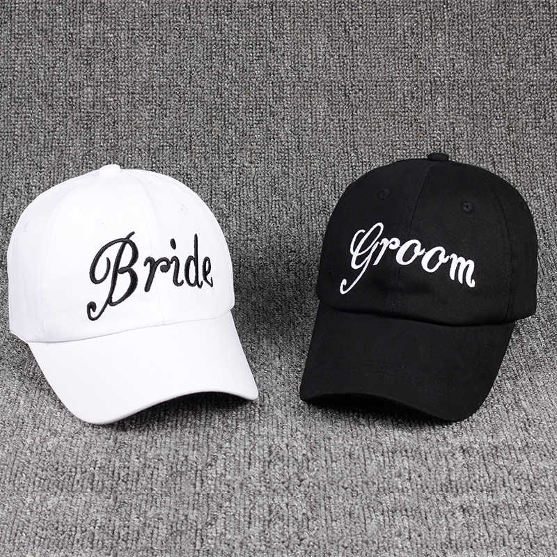 94446d2d Groom Bride SQUAD Baseball Cap 100% Cotton Embroidery Bachelorette Hats  Women Wedding Preparewear Trucker Caps