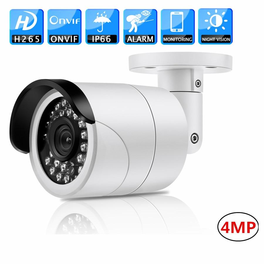 Full HD CCTV IP PoE Camera 4MP H.265 20m IR IP66 infrared ONVIF Detection IP66 Surveillance night vision Security Camera camera ip full hd 4 0mp 2688 1520 poe indoor vandalproof onvif2 4 h 265 h 264 night vision security cctv camaras de seguridad
