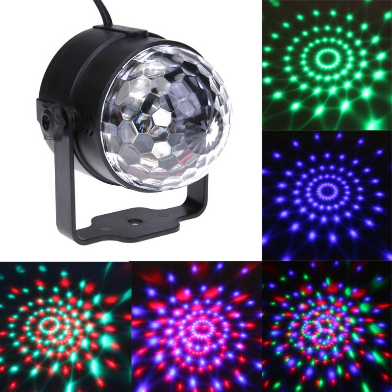 Crystal Magic Ball LED Stage Lamps Sound Control Stage Effect Party Light Stage Effect Light Party Disco Club DJ Light Hot Sale