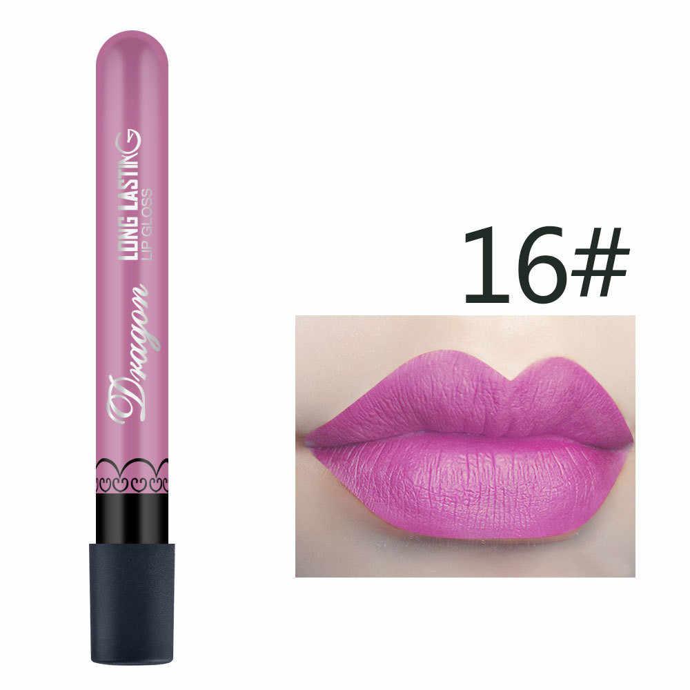 1Pc Seksi Merah Vampir Makeup Velvet Nude Lip Gloss Tahan Air Matte Lipstik Cair Tahan Lama Lipstik Hitam Set Korea cosmet