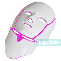 3 Color Photon LED Infrared Facial Neck Mask Skin Microcurrent Massager Rejuvenation Anti Aging Beauty Therapy for home use