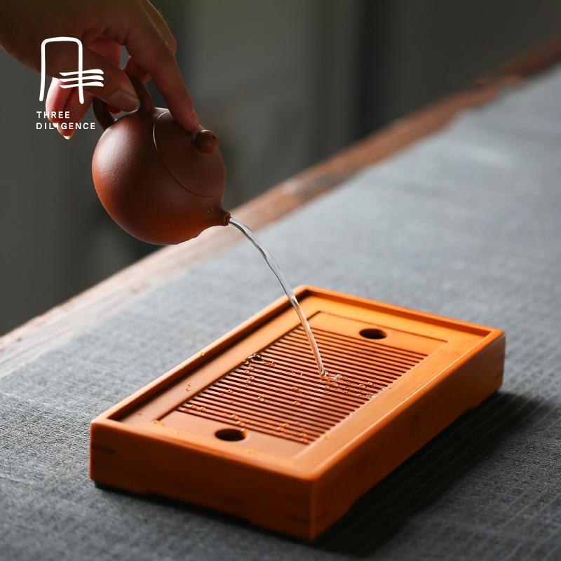Tea Accessories Rectanglebamboo Tea Tray Chinese Solid Tea