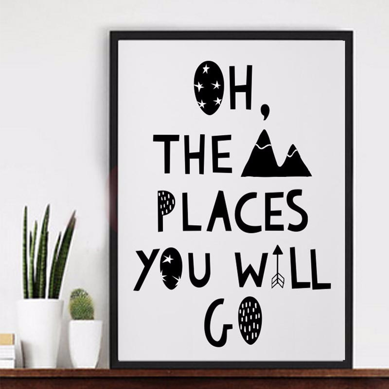 oh the places you will go canvas posters and prints canvas art pop , travel theme nursery, toddler girl or boy room art image