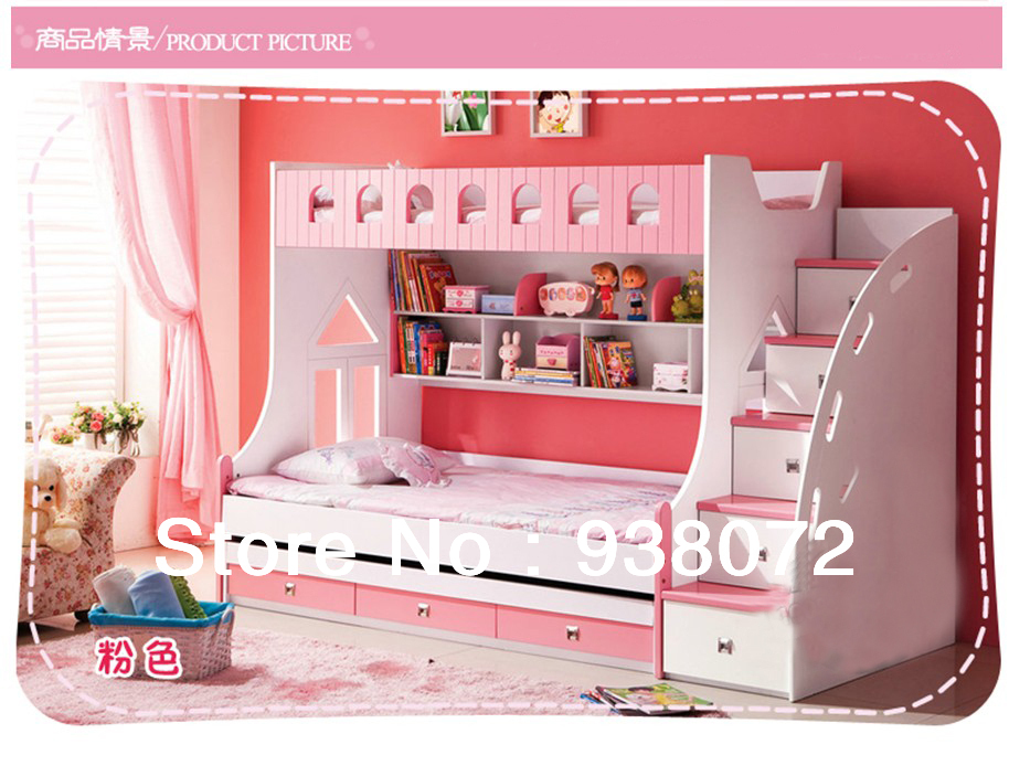 Free Shipping Kids Furniture Bedroom Set Children Bunk