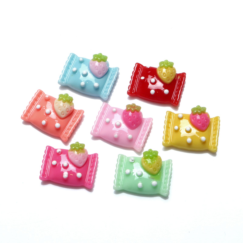 LF 50Pcs Mixed Sweets Candy Resin Decoration Crafts Beads Flatback Cabochon Scrapbooking Embellishments Kawaii Diy Accessories