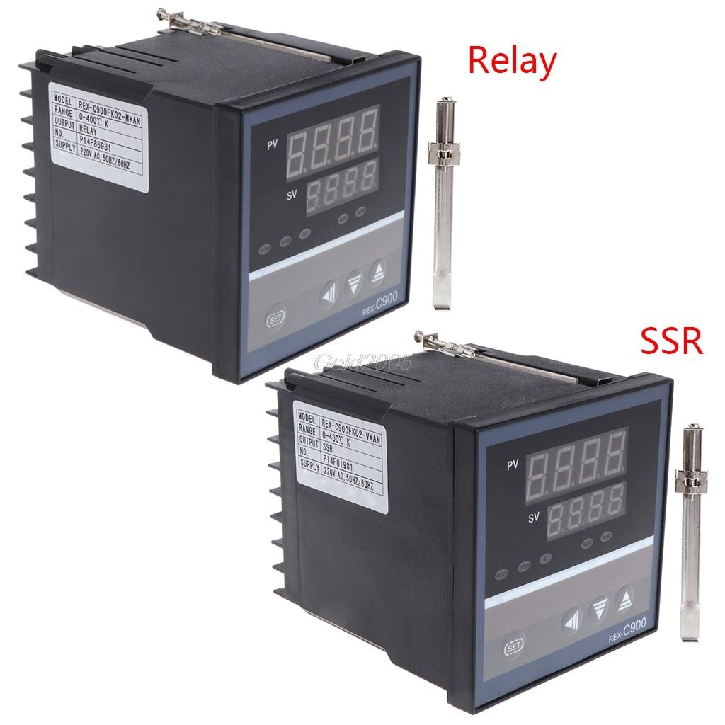 PID Temperature Controller REX-C900 Universal Input Multi-input SSR Relay Output 96*96mm Thermostat Regular G06 Drop Ship