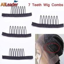 Alileader, 12 шт., черные лучшие зажимы для наращивания волос, расчески из нержавеющей стали для париков, недорогие заколки для париков, поставка с фабрики