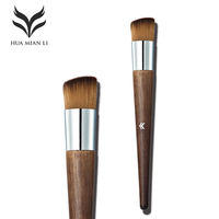 HUAMIANLI Makeup Brushes Foundation Brush High Quality Wood Handle Goat Hair Pen Professional Comestic Tool Women
