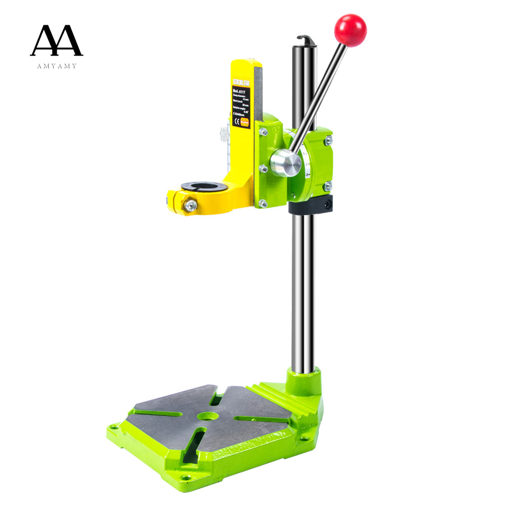 Electric power Drill Press Stand Table for Drill Workbench Repair Tool Clamp for Drilling,Collet Table 35&43mm 0-90 degrees electric power drill press stand table for drill workbench repair tool clamp for drilling collet table 35