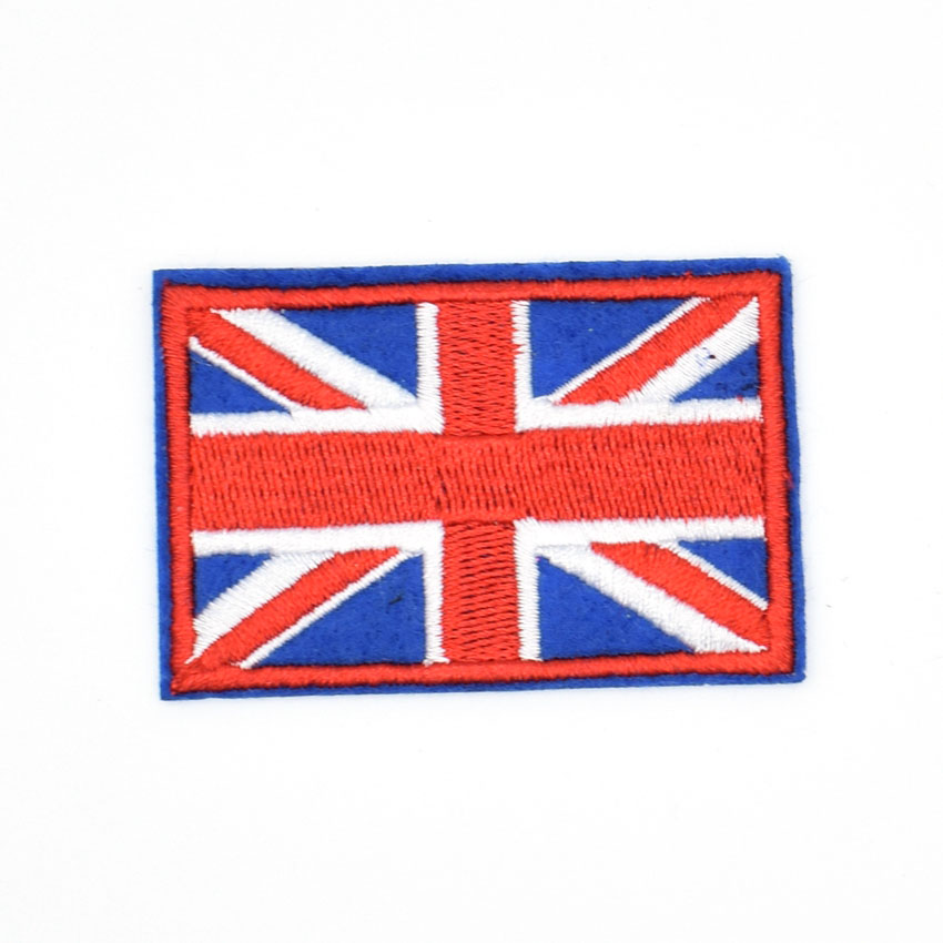 1Pcs <font><b>British</b></font> Union Jack Embroidered <font><b>Patch</b></font> England <font><b>Flag</b></font> UK Great Britain Iron On Sew On Emblem
