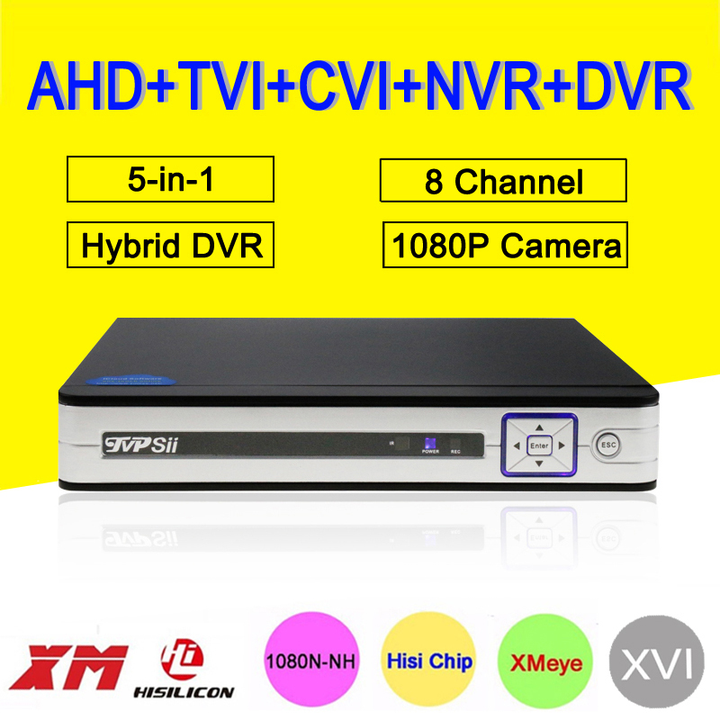 1080P Security Camera HI3520D Silver White Panel 1080N 8CH/4CH Coaxial Hybrid Wifi 6 in 1 TVI CVI NVR AHD CCTV DVR FreeShipping gadinan 8ch ahdnh 1080n dvr analog ip ahd tvi cvi 5 in 1 dvr 4ch analog 1080p support 8 channel ahd 1080n 4ch 1080p playback