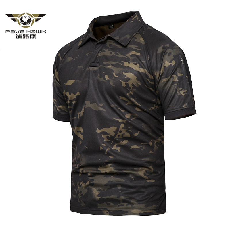 Men's Breathable Army Combat Tactical Polo Shirts Military Shirts Male Quick Dry Short Sleeve Polo Shirts Plus Size 4XL 5XL