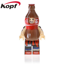 Hot Single Sale Pure milk cola lemon Fanta Best Building Blocks Bricks Action Figures Education Toys Gift For Children PG1302