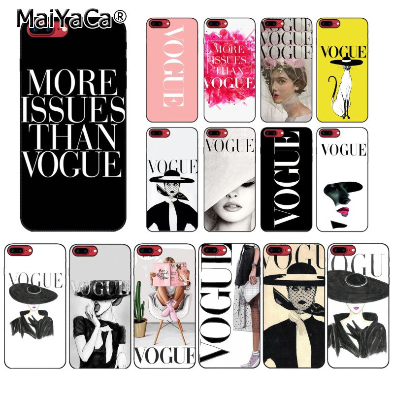 MaiYaCa Fashion Woman More Issues than Vogue <font><b>PhoneCase</b></font> For <font><b>iphone</b></font> 11 Pro 11Pro MAX 6S 6plus 7 <font><b>7plus</b></font> 8 8Plus X Xs MAX 5 5S XR image