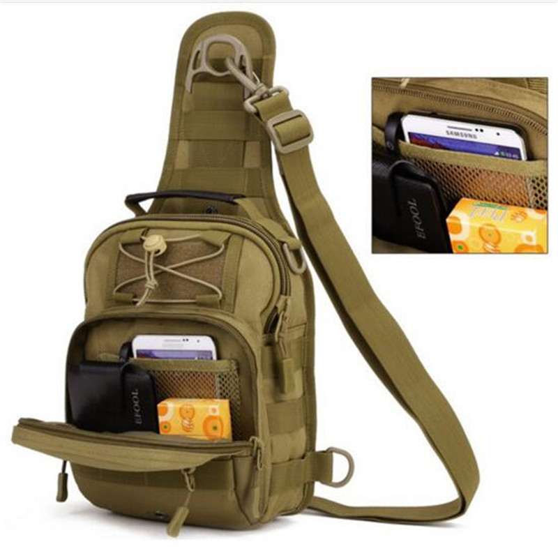 Men's bags tactics chest package nylon one shoulder high grade Dual-use wear-resisting bags fashionable leisure female bag