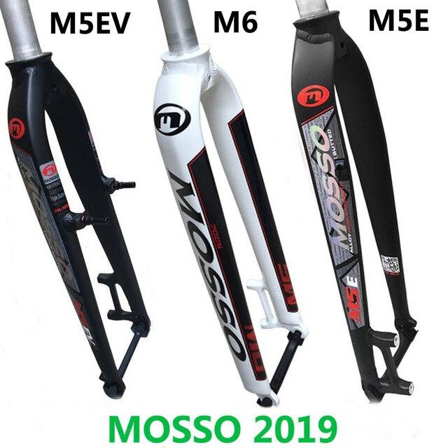 2019 novo modelo mosso m5 md5 m5e m5ev m6 mtb mountain bike garfo para v + freio a disco 26