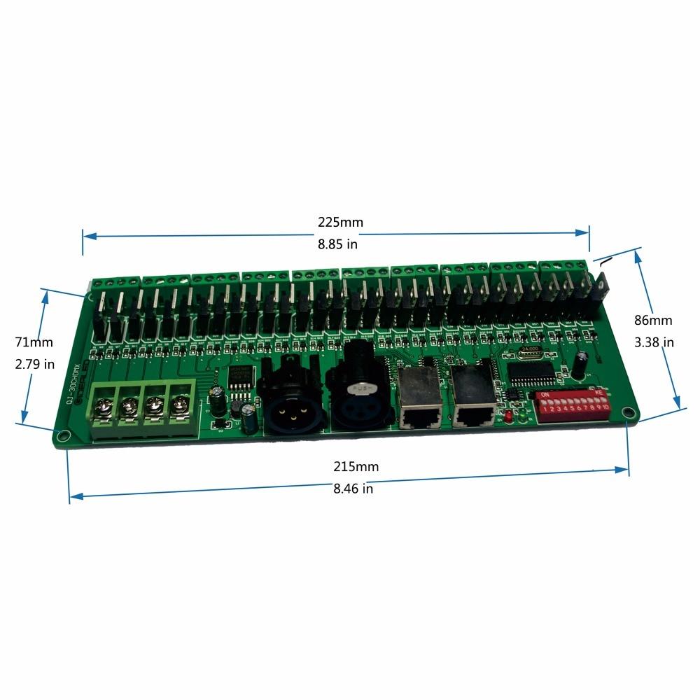 30-канален DMX декодер с XLR задействащ LED - Аксесоари за осветление - Снимка 4