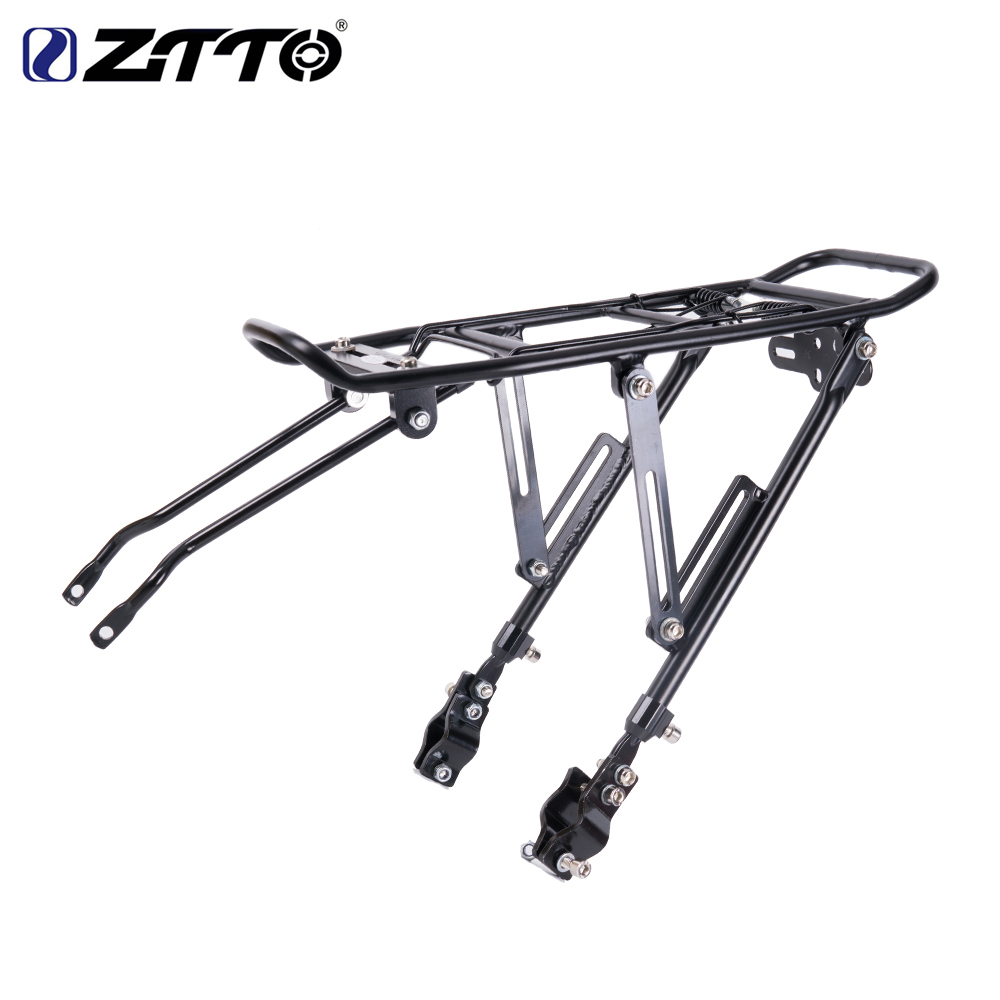 Bicycle Rear rack mountain bike Rear Carrier Bicycle Luggage Carrier Shelf Cycling Seatpost Bag Holder for disc brake V brake