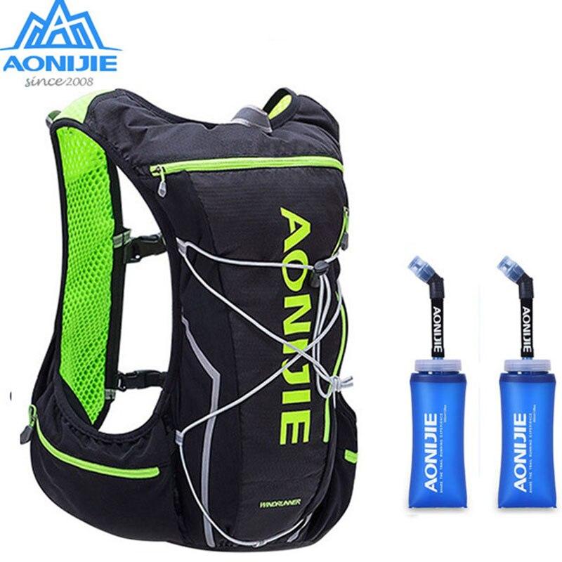 AONIJIE Men Women Nylon 10L Outdoor Bags Hiking Backpack Vest Professional Marathon Running Cycling Backpack Bag стоимость