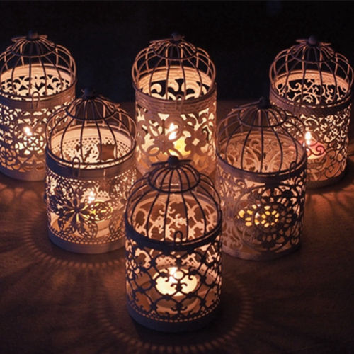 Hot Romantic Birdcage Candlestick White Metal Tealight Candle Holder Wedding Candle Centerpieces Tables Iron Holder Home Decor Candle Holders Aliexpress