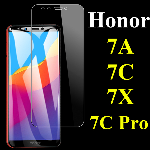 Protective glass on the for huawei honor 7c pro screen protector 7a 7x tempered 7s a7 c7 7apro 7cpro huaway honer 7 a c x s glas