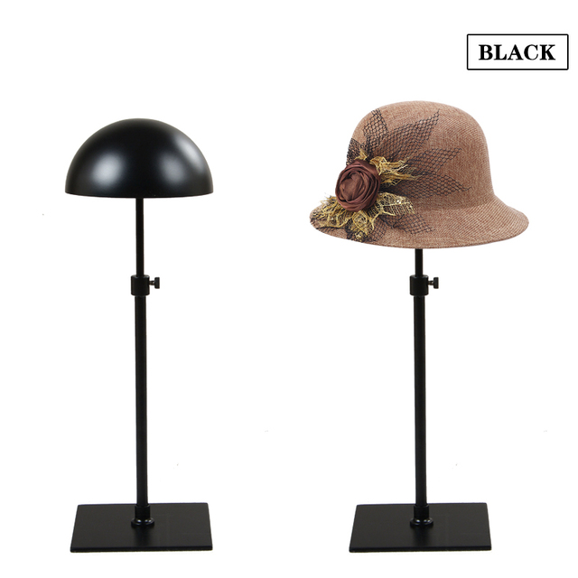 Iron Wig HAT Holder Stand Rack Adjustable Height Tabletop Display For Cap  Metal MJ03 Linliangmuyu