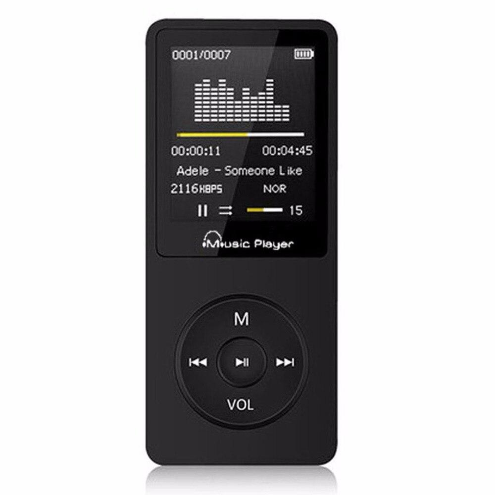 Grande Capacidade de Memória MP3 Suporte Ao Jogador 64 GB Música Media Player Portátil Gravador de Voz Rádio FM Player Transporte da gota