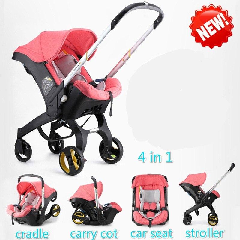 Baby Stroller 4 In 1 Newborn Baby Bassinet Sleeping Basket Baby Cradle Car Seat Stroller Travel System Baby Carriage Pushchair orbit baby люлька колыбель orbit baby g3 bassinet